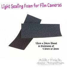 Camera Light Seal Foam Sheets ~ 10cm x 20cm Self Adhesive 1.5mm/2mm ~ The Best!