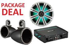 """Kicker Marine Tower Speaker Package (8"""" Speakers 400W Amp)"""