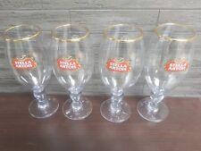 4 x  STELLA ARTOIS  ACRYLIC / PLASTIC CHALICE 2/3 PINT GLASSES GOLD RIM