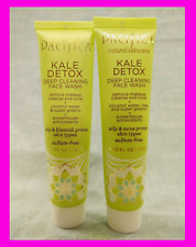 Pacifica Kale Detox Deep Cleaning Face Wash Cleanser Oily Blemish Skin 2 x .5 oz