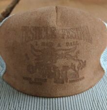 Testicle Festival Suede Leather Trucker Cap Hat USA Montana