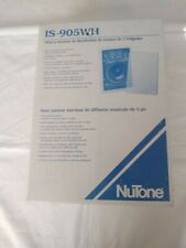 """NUTONE IS-905WH 5"""" INSIDE MUSIC DISTRIBUTION SPEAKER, White, New"""