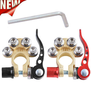 2x Car Battery Quick Release Clamp Joint Battery Pile Head Brass Clamp Terminal