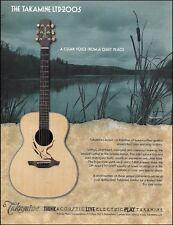 Takamine LTD-2005 collectors series acoustic guitar ad 8 x 11 advertisement