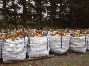 1 Cubic Metre Builders Bulk Bag of Firewood Logs Wood In Extra Large Tonne Sack