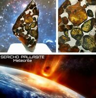 * Sericho Pallasite Olivine Meteorite * Slice Kenya Africa 🌠🌌
