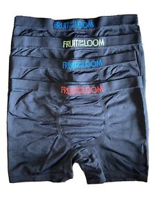 FRUIT Of THE Loom BOYS Seamless COMFORT Boxer BRIEF Lot BLACK Large 14-16 NEW!!