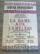LA DAME AUX CAMELIAS Affiche 1963 J. Leuvrais Théâtre Sarah Bernhardt A. Dumas