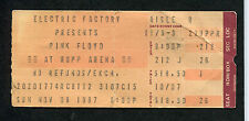 1987 Pink Floyd concert ticket stub Lexington KY  Momentary Lapse of Reason