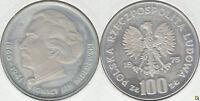POLONIA - POLSKA. 100 ZLOTYCH DE 1975. PLATA 0.625. (5)