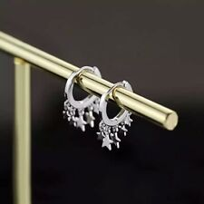 925 Sterling Silver Stars Cute earrings studs EF0018