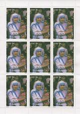 MOTHER TERESA OF CALCUTTA TURKMENISTAN 1997 MNH STAMP SHEETLET
