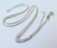PT950 Pure Platinum 950 1.1mm W Lucky O Link Chain Necklace/ 2.72g /17.7inch