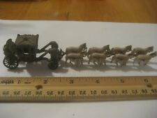 Vintage 8 Horse Drawn Carriage Cast Iron Carriage 8 Ceramic Horses