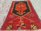 """Antique 1900-1939s Tent-Woven Natural Red Dye Wool Pile Tribal Rug 1'4""""×2'7"""""""
