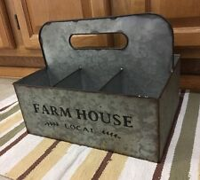 Farm House Home Decor Storage Milk Can Rack Holder Steel Vintage Style Farm