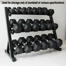 Dumbbells Set Rubber-Coated Hex Rubber Barbell Weights Fitness Home Gym(5-50lbs)