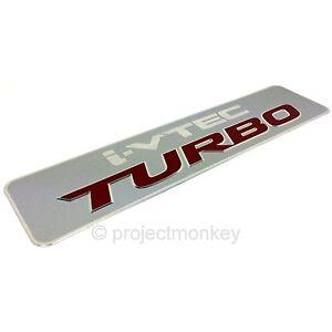 OEM Acura 07-11 RDX iVTEC Turbo Intercooler Emblem Badge Genuine Honda Part USDM