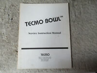 TECMO BOWL   VIDEO GAME   owners manual
