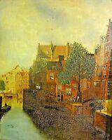 Susanne Riese (?? rs. Aufkleber) antik Gemälde vor 1900: - FLEET IN HAMBURG -