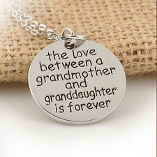 The love between a grandmother and granddaughter is forever Necklace Jewelry