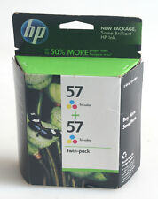 HP 57 INK TWIN PACK TRI-COLOR JULY 2011 AS IS