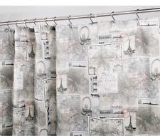 Antique Map of Paris Fabric Shower Curtain