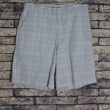 Patagonia Bermuda Mens Organic Cotton Seersucker Shorts Blue Striped Sz 33 10 in