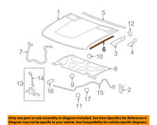 GM OEM Hood-Side Weatherstrip Weather Strip Right 25890122