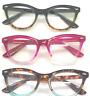 Cat Eye Clear Lens Retro Eyeglasses Two Tone  Frame Women Fashion Glasses