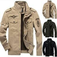 Herren Winter Warm Mantel Jacke Übergangsjacke Zipper Parka Outdoor Herrenjacke