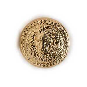 5pcs Lion Pattern Shank Metal Button Round Sewing Suits Blazer Jacket Uniform