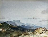 SIR WILLIAM RUSSELL FLINT SIGNED ORIGINAL WATERCOLOUR COBONNE VALLEY FRANCE