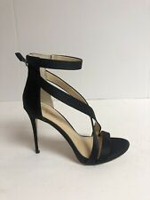 Vince Camuto Devin Black Semi Matte Satin Women's Size 8.5M High Heels