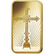L@@K PAMP 1oz GOLD Bar | ROMANESQUE CROSS |Minted PREPPER Survival Investment !!