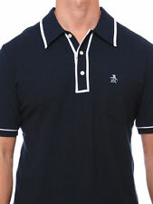 New Men's Original Penguin Heritage Slim Fit The Earl Polo Blue Navy Sz.XL $59