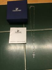 "Swarovski Crystal Cross Pendant w/ Crystals Chain Approx. 18"""