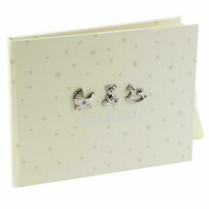 Bambino - Guest Book - Cream & Silver Attachments / Diamantes: Baby Shower