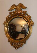 Antique Federal Style Convex Bulls-eye Eagle Mirror