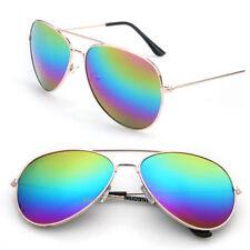 Womens Classic Pilot Sunglasses Mens Retro Shades 80s Eyewear Vintage Glasses