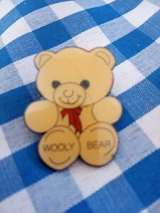 Woolworths Pin Badge, Wooly Bear