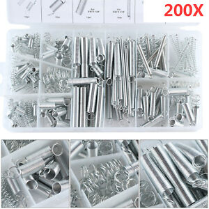 200-tlg. Zugfeder+Druckfeder Set Sortiment Federstahl Federn Kompression Spirale