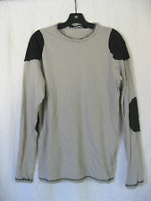 *Lip Service Grey Straps of Mercy Men's Patched Long Sleeve Shirt Goth S RARE