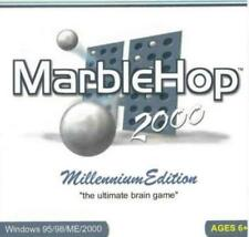 MarbleHop 2000 Millennium PC CD hop pegs in small wooden triangles puzzle game!