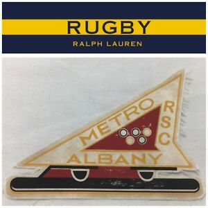 NEW Polo Ralph Lauren Rugby Patch Speed Skating 'METRO RSC ALBANY' SUPER RARE!