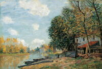 Alfred Sisley Moret The Banks Of The River Loing Giclee Canvas Print Poster