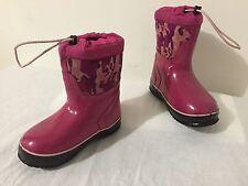 McKinley Winter Snow Boots Fuchsia Camoflague Little Girls Size 12
