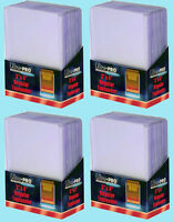 100 Ultra Pro 3x4 REGULAR TOPLOADERS NEW Standard Size Trading Card Sleeve Rigid