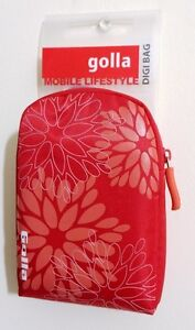Digital Camera bag Case with Carabiner and strap Red Golla NEW