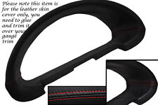 RED STITCH FITS CITROEN SAXO 96-04 GAUGE SPEEDO TRIM SURROUND LEATHER COVER